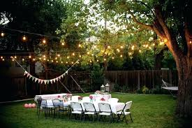 outdoor lighting ideas for backyard outdoor lighting ideas for backyard party photo of small backyard party