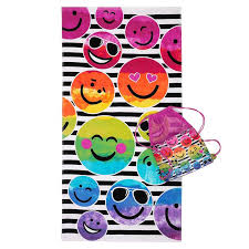 cool beach towels for girls. Three Cheers For Girls Beach Towel And Bag Set Thumb 4 - Emoji Cool Towels C