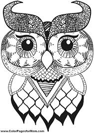 Owl Coloring Pages For Adults Coloring Free Coloring Pages