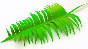 Design Craft Paper Leaf Palm Leaves Paper Diy Design Craft Making Tutorial Easy Cutting From Paper Step By Step