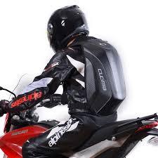 fashion waterproof motorcycle bag backpack back seat rear carbon fiber hard shell backpacks for kawasaki ktm yamaha zipper large leather saddlebags leather