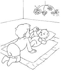 Baby En Broertje Kleurplaat Jouwkleurplaten