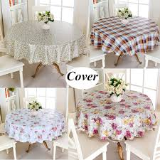 60 152cm round tablecloth home picnic table cloth cover waterproof oil proof