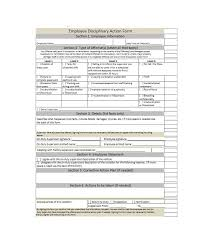 Employee Disciplinary Action Form Gorgeous 48 Employee Disciplinary Action Forms Template Lab
