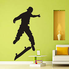 diamond level extreme sport skateboard kids wall stickers for kids rooms vinyl home decor living room stickers on the furniture fairy wall stickers fish