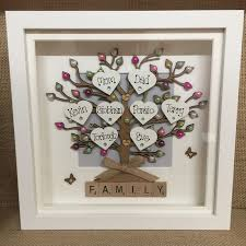 Box Frame Design Details About Personalised Family Tree Box Frame Scrabble