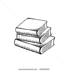 a stack of books isolated on white background