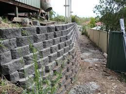 retaining wall blocks cinder block retaining wall design foundation for home ideas est