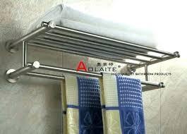 brushed nickel bathroom shelf with towel rack classic brass bracket