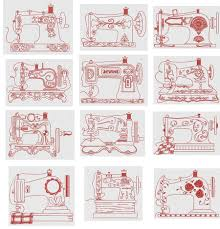 Redwork Machine Embroidery Designs Free Vintage Sewing Machines Redwork Sewing Machine Drawing