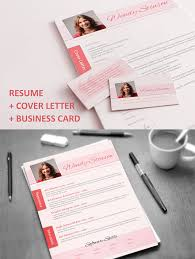 Resume With Matching Cover Letter Business Card Fancy Resumes