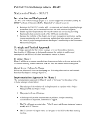 design statement of work statement of work in word and pdf formats