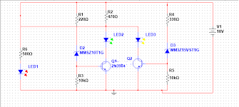 simple battery level indicator electronix zener diodes are connected such that they will be reverse biased when a battery is connected across the circuit as soon as the reverse voltage across