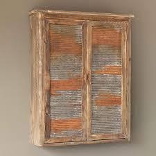 2 door rustic wall cabinet antique
