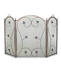 folding fireplace screen screens this closure wazee oil rubbed bronze 3 panel with doors iron uniflame