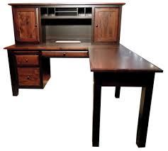 custom wood office furniture. Wonderful Custom Wood Office Furniture With Giant Shaker Desk Amish Gallery Built