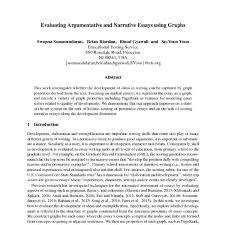 Evaluating Argumentative And Narrative Essays Using Graphs