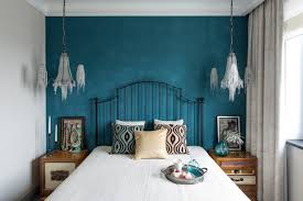 High Quality Teal And White Bedroom