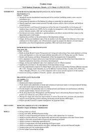 Brand Finance Manager Resume Samples Velvet Jobs