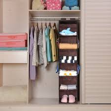 hanging closet organizer with 4 side pockets magicfly 6 shelf in hanging closet organizer hanging closet