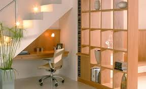 under stairs office. Small Natural Under Stairs Home Office R