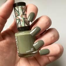 Rimmel London Camo Girl Nail Polish Khaki Green Nails In