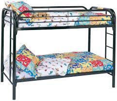black metal bunk bed. Coaster Metal Beds Twin Bunk Bed - Item Number: 2256K Black A
