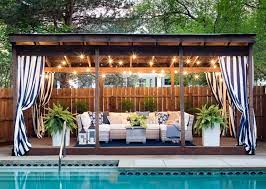 updated poolside cabana space