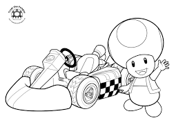 Unique Mario Luigi And Toad Coloring Pages Printable Kart 7 Free In