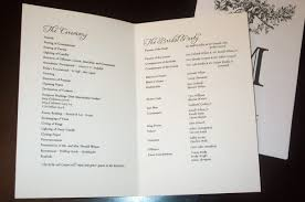 sample wedding ceremony program pick the best sample wedding programs c bertha fashion