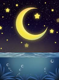Starry Night Design Beautiful Sea Starry Night Background Design Good Night