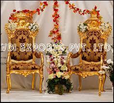 king queen golden deco chairs