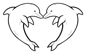 Coloring Pages Dolphin Delighted Dolphin Picture To Color Coloring