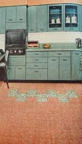 Linoleum Flooring For Kitchen Kitchen Linoleum Flooring By Dominion Linoleum 1957 Home