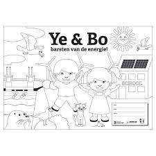 Kleurplaat Ye Bo Barsten Van De Energie
