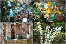 upcycling ideas with glass insulators home and garden decorations diy 31 42