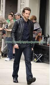 bradley cooper limitless black real leather jacket