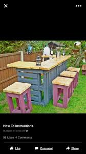 wooden pallet patio furniture. Easy DIY Patio Furniture And Outdoors Ideas - Necessary Outdoor Bar Made From Old Pallets Scrap Timber. Finish Top With Yacht Oil For That Wooden Pallet L