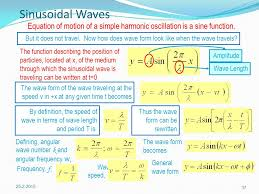 37 sinusoidal waves equation