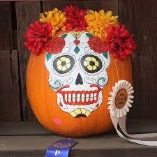 no carving skull pumpkin idea