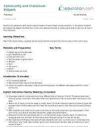 Lesson Plans For Kindergarten Social Studies Kindergarten Social