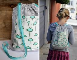 Drawstring Backpack Pattern Beauteous Alice And LoisDIY Drawstring Backpack