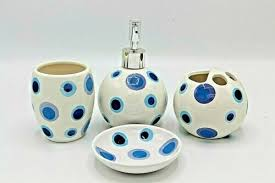 soap dishes dispensers set of 4 round