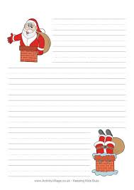 Christmas Writing Paper Template Free Christmas Writing Paper