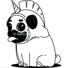 pug coloring pages to print unicorn free puppy printable dog colo