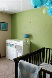 green nursery furniture. Changing Table And Crib Furniture Arrangement In An Adorable Nursery Design. Paint Baby\u0027s Room Green