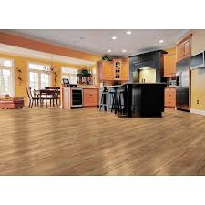 Laminate Flooring In The Kitchen Trafficmaster Lakeshore Pecan 7 Mm Thick X 7 2 3 In Wide X 50 5 8