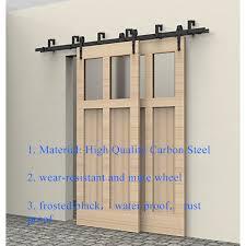 interior door hardware. 5-8FT Rustic Interior Doors Bypass Sliding Barn Wood Door Hardware Steel Arrow Country Style