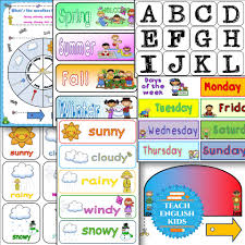 Weather Chart Weather Chart Teach English Kids