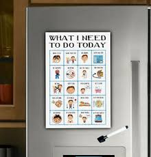 Daily Checklist Chart Details About Boys Magnet Routine Chart Toddler Responsibilty Checklist Daily Visual Aid